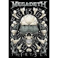 Megadeth- Skull & Bones sticker (st44)