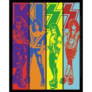 Kiss- Stripes Pic sticker (st674)
