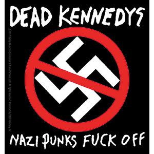 Dead Kennedys- Nazi Punks Fuck Off sticker (st211)
