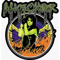 Alice Cooper- Flames sticker (st205)