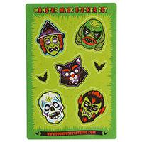Monster Mask Sticker Set by Sourpuss sticker (st97)
