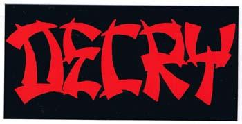 Decry- Logo sticker (st788) (Sale price!)