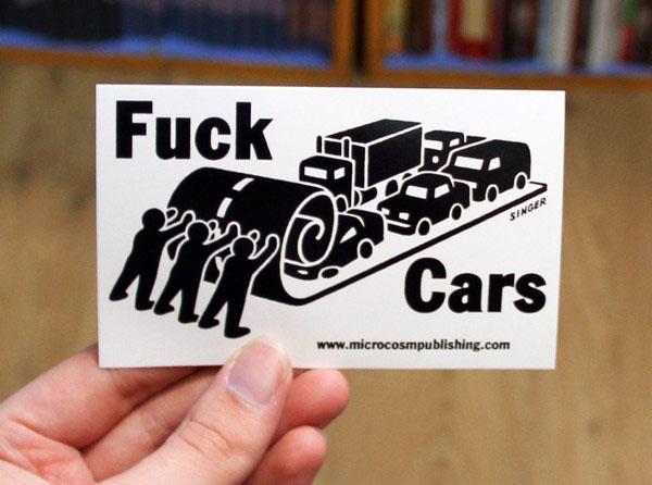 Fuck Cars sticker (st153)
