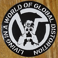 Virus- Living In A World of Global Distortion Sticker (st505)