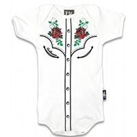 Honky Tonk Onesie by Six Bunnies (S:0-3m, M:3-6m, L:6-12m, XL:12-18m)  - in white