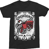 Goosebumps- Book Club on a black shirt