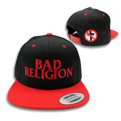 Bad Religion- Logo embroidered on a black/red baseball hat
