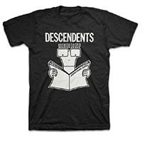 Descendents- Everything Sucks on a black ringspun cotton shirt