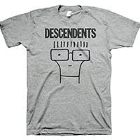 Descendents- Classic Milo on a heather grey shirt