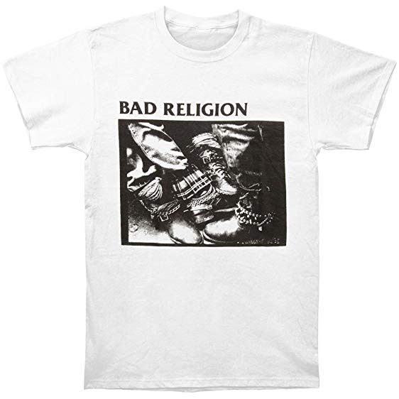 Bad Religion- 80-85 (Boots) on a white shirt