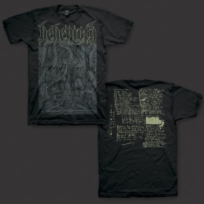 Behemoth- Lucifer on a black shirt