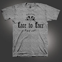 Face To Face- Est 1991 on a heather grey shirt