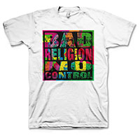 Bad Religion- No Control on a white shirt