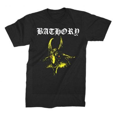 Bathory- Yellow Goat on a black shirt