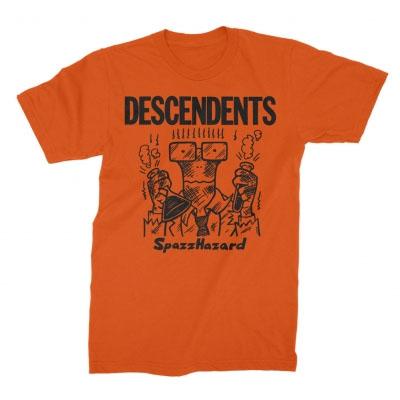 Descendents- SpazzHazard on an orange shirt
