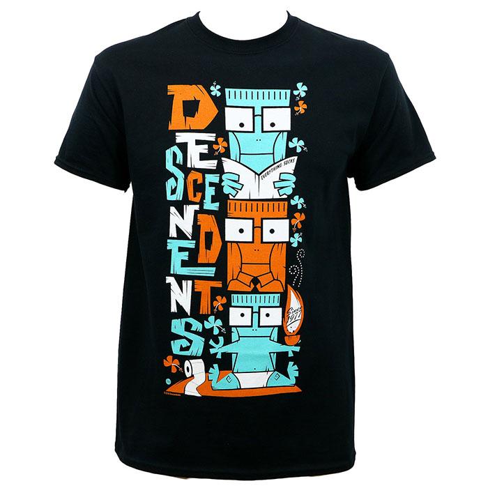 Descendents- Milo Totem on a black shirt
