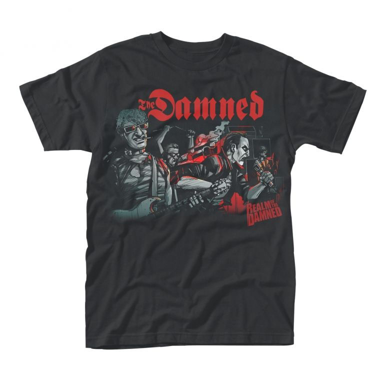 Damned- Realm Of The Damned on a black shirt