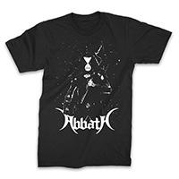 Abbath- Blizzard on a black shirt