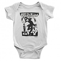 Operation Ivy- Skankin' on a white onesie (S:3-6m, M:6-12m, L:12-18m, XL:18-24m)