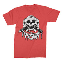 Discharge- Born To Die (Skulls & Banner) on a red shirt