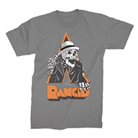 Rancid- Tim Breakout on a grey ringspun cotton shirt