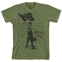 Green Day- Flag on an army green shirt