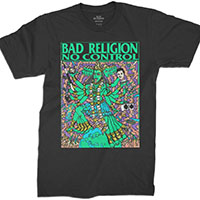 Bad Religion- No Control (Kozik Art) on a black shirt