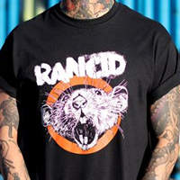 Rancid- Rat on a black shirt