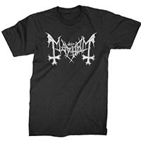 Mayhem- Logo on a black shirt