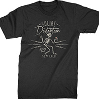 Social Distortion- Electric Skelly on a black shirt