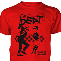 English Beat- Tears Of A Clown on a red shirt