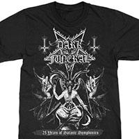 Dark Funeral- 25 Years Of Satanic Symphonics on a black shirt