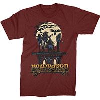 Graveyard- Moonband on a maroon shirt