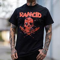 Rancid- Skull & Bats on a black shirt
