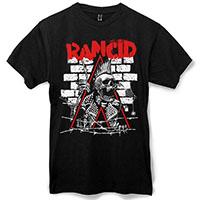 Rancid- Skele-Tim Breakut on a black shirt