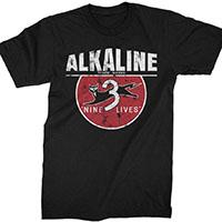 Alkaline Trio- 9 Lives on a black shirt