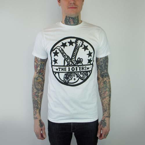 101ers- Logo on a white ringspun cotton shirt (Sale price!)