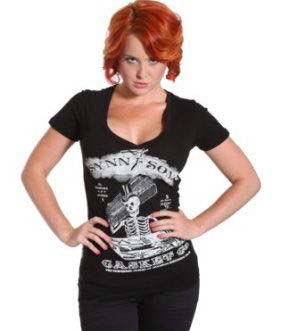 Synn & Sons Casket Co. Girls V Neck t-shirt by Se7en Deadly - SALE sz M & 2X only