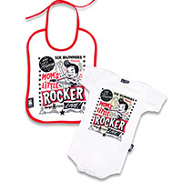 Mom's Little Rocker Gift Set by Six Bunnies (S:0-3m, M:3-6m, L:6-12m) - White