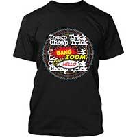 Cheap Trick- Bang Zoom on a black ringspun cotton shirt