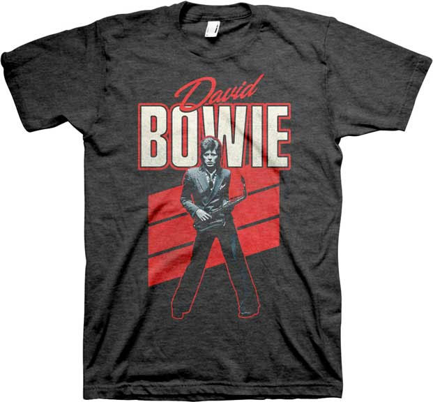 David Bowie- Red Sax Pic on a grey shirt