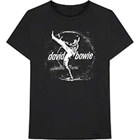 David Bowie- Space Oddity Record Label on a black shirt