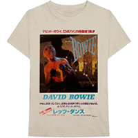 David Bowie- Japanese Let's Dance on a tan shirt
