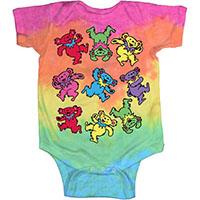 Grateful Dead- Spiral Bears tie dye onesie (S- 6m, M- 12m, L- 18m)