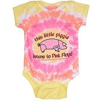 Pink Floyd- This Little Piggy Listens To Pink Floyd tie dye onesie (S- 6m, M- 12m, L- 18m)