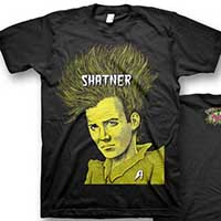 Shatner- Bad Music on a black ringspun cotton shirt