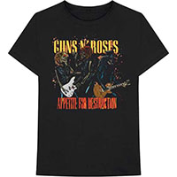 Guns N Roses- Appetite For Destruction (Skeletons Live) on a black shirt