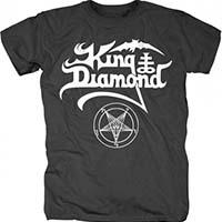 King Diamond- Logo on a black shirt