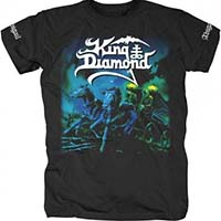 King Diamond- Abigail on front & sleeves on a black shirt