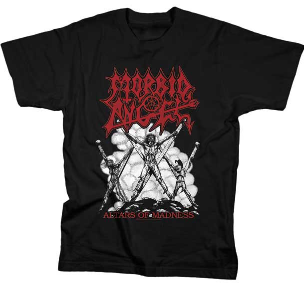 Morbid Angel- Altars Of Madness (Crucifixions) on a black shirt